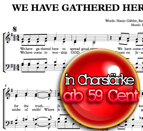 We have gathered here - Hanjo Gäbler - Sheetmusic