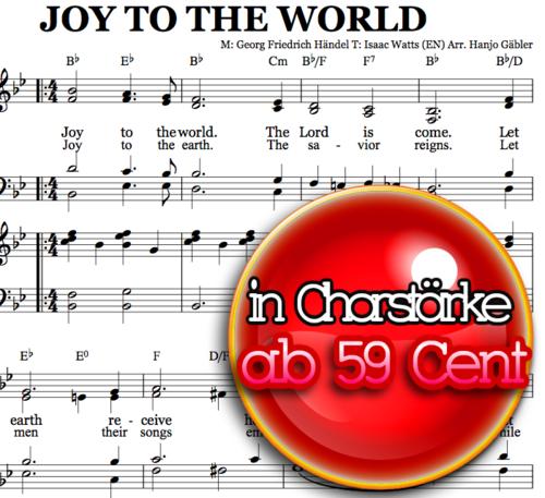 Joy to the world - Klaviernoten zum Download