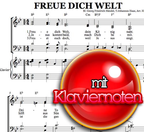 Freue Dich Welt - Klaviernoten zum Download