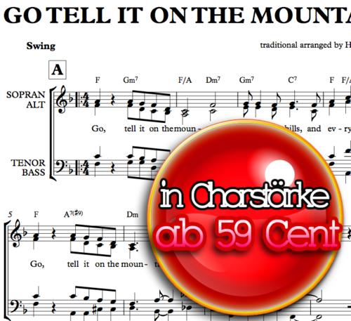 Go tell it on the mountain - Chornoten zum Download