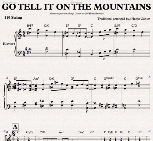 Go tell it on the mountain - Klaviernoten