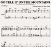 Go tell it on the mountain - Sheetmusic for piano to download
