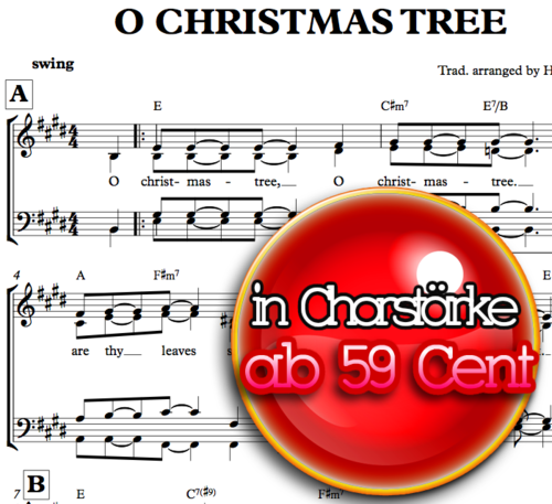 O Christmas Tree - Chornoten zum Download