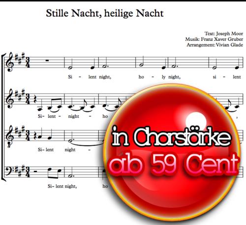 Stille Nacht - Chornoten von Vivian Glade