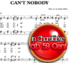 Can't nobody- Chornoten zum Download