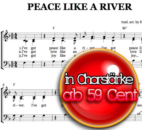 Peace like a river - Choir Sheet Musik