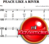 Peace like a river - Klaviernoten zum Download