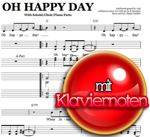 Oh happy day - Klaviernoten zum Download