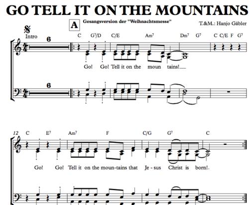 Go tell it on the mountans - Chornoten zum Download