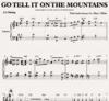 Go tell it on the mountains - Klaviernoten