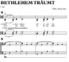 Bethlehem träumt - Sheet Music for piano to download