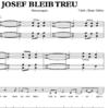 Josef bleib treu - Klaviernoten zum Download