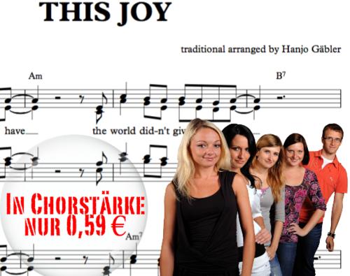 This joy I have - Sheet Music by Hanjo Gabler