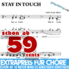 Stay in touch - Hanjo Gabler- Choir Sheet music