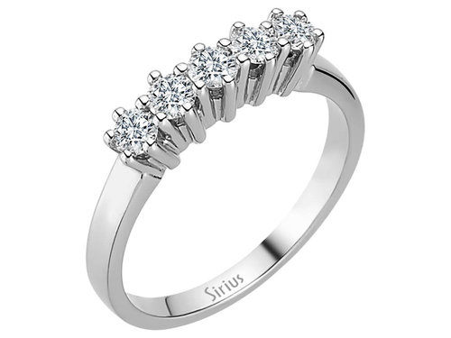 0,46 Carat 5 Diamanten Memoire Ring Memoirering