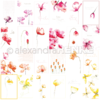 Designpaper 'card sheet flowers'