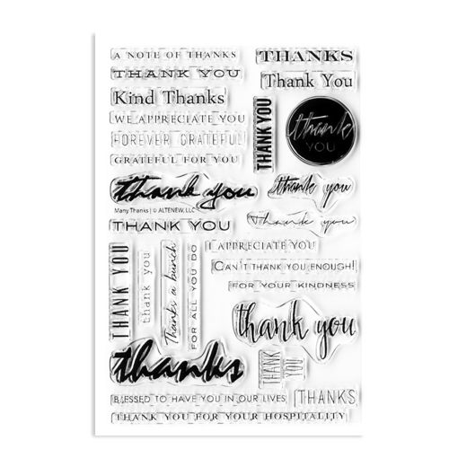 "Clear Stamp ""Many thanks"""