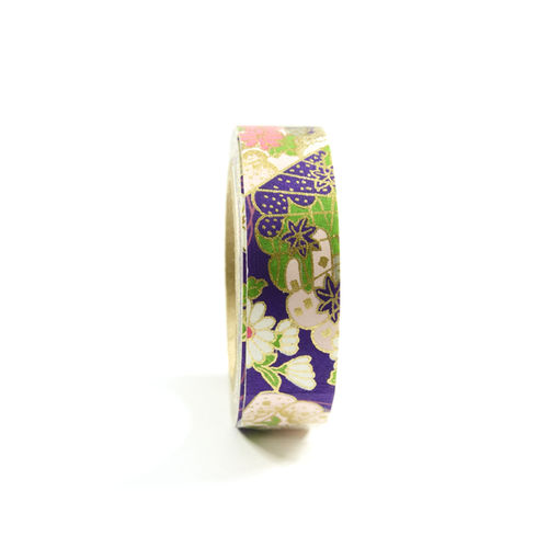 Washi Tape 'Purple Spring Fans'
