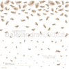Designpaper 'falling feathers gold'