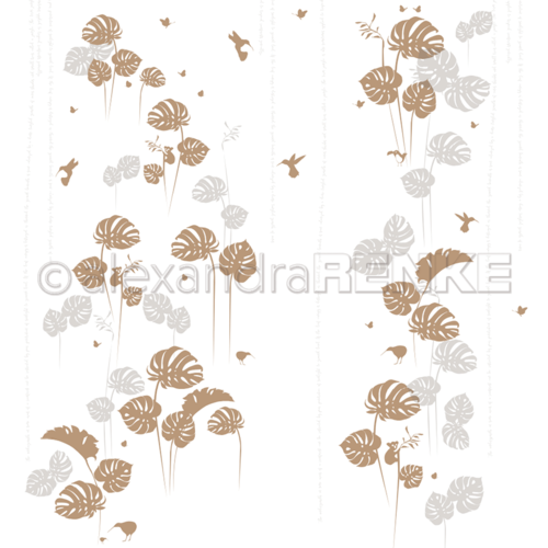 Designpapier 'Monstera Gold'