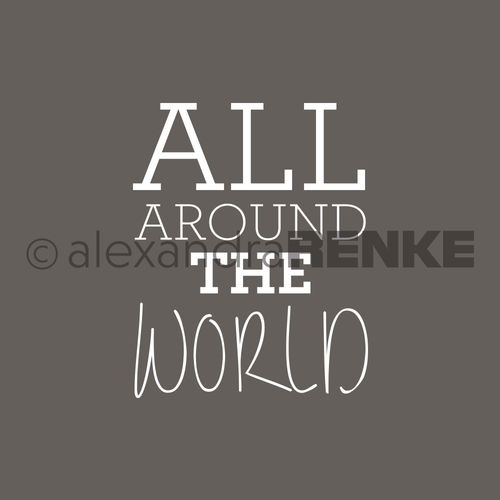 Motivstempel 'All around the world'