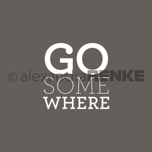 Motivstempel 'Go somewhere'