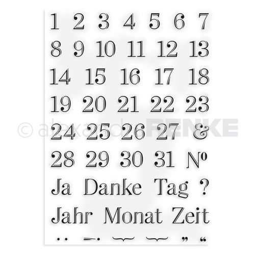 Clear Stamp 'Kalender-Zahlen (deutsch)'