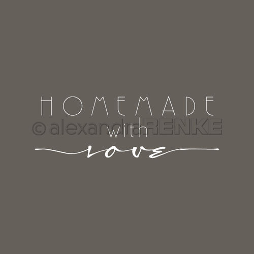 Stempel 'Homemade with love'