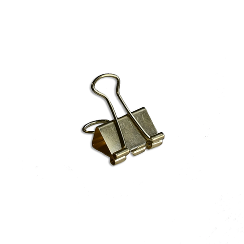 Solid Binder Clips gold medium