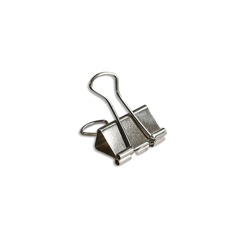 Solid Binder Clips silver medium