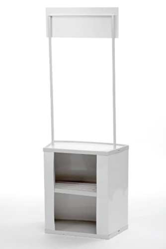 PVC promotion desk white