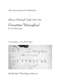 "Vogel, Johann Christoph: Ouvertüre ""Demophon"""