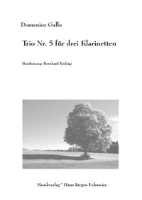 Domenico Gallo: Trio Nr. 5 für drei Klarinetten