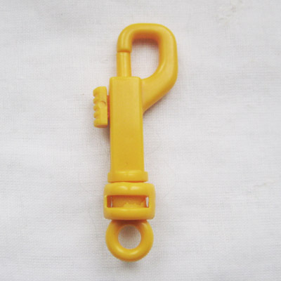 snap hook, yellow