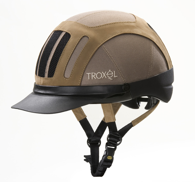 TROXEL Sierra Tan Sécurité Ventilé Cheval Western Profil Bas Équitation Casque Medium
