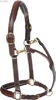 Leather halter Noblesse, brown full