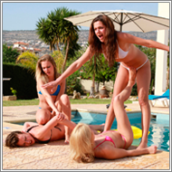 Pool party catfight – Laura, Blanca, Renee, Lexxi