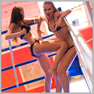 Bikini punching fight in ring – Tess vs Maya