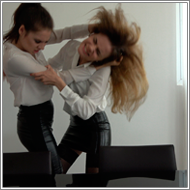 Belly punching catfight – Sabrina vs Jillian – FULL HD