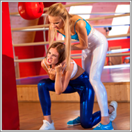 Workout catfight in the GYM – Tess vs Maya
