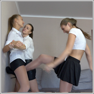 SCR478 - 2on1 punching catfight - Maya vs Renee and Tess
