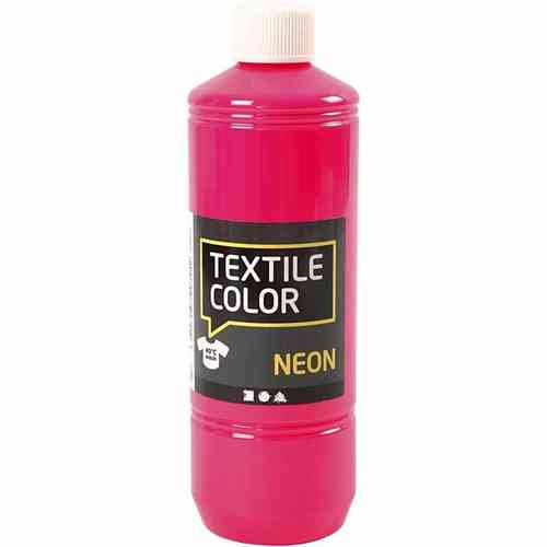 Textile Color Stoffmalfarbe Textilfarbe Neon Pink 500 ml