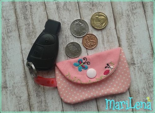 Mini Pocket Key Chain chip bag ITH 4x4""