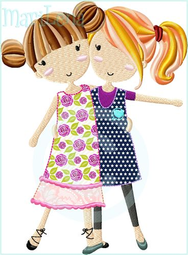 ♥ Best Friends ♥ Appli 13x18