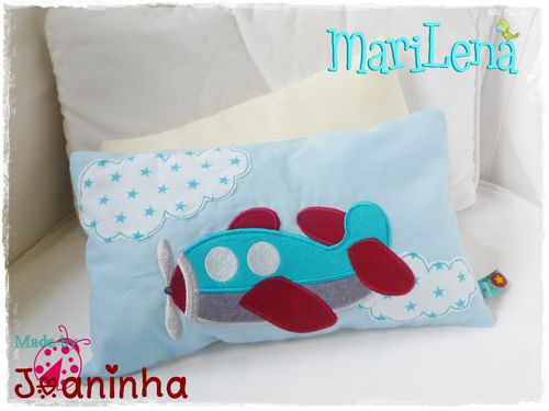 Plane cushion / pillow 7x12""