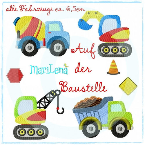 Set for babyshoes Construction vehicles