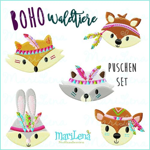 Set for baby shoes BOHO Forest animals