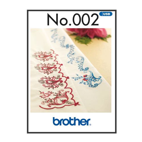 Brother Embroidery Pattern oriental Border  BLECUSB002
