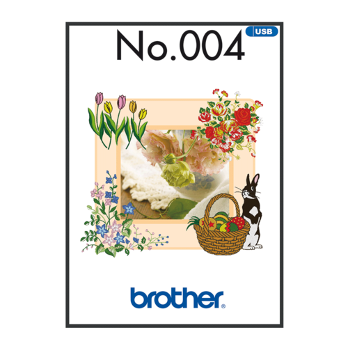Brother Embroidery Pattern Spring BLECUSB004