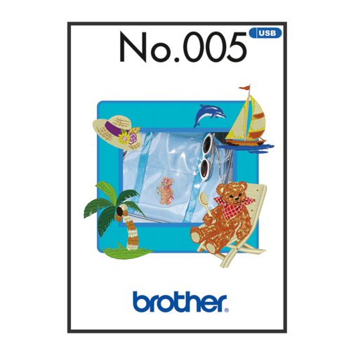 Brother Embroidery Pattern Summer BLECUSB005